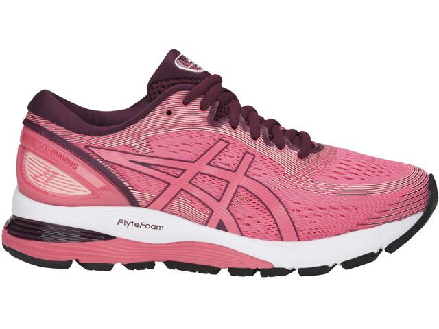 asics Gel-Nimbus 21 Shoes Women Pink Cameo/Bakedpink
